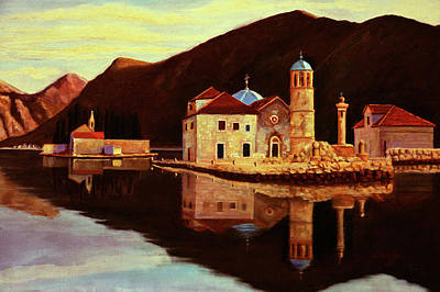 Montenegro Painting - Our Lady Of The Rocks - Montenegro by Rok Lekaj