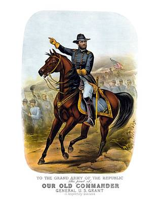 Horses Drawing - Our Old Commander - General Grant by War Is Hell Store