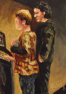 Jukebox Painting - Our Song by Angela Sullivan