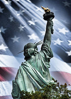 Our Statue Of Liberty Print by Jim Fitzpatrick