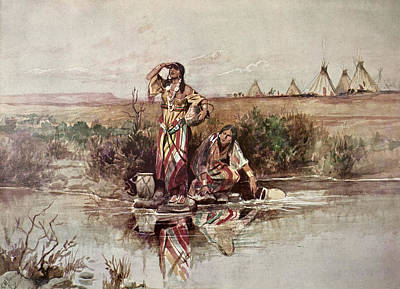 Our Warriors Return Print by Charles Marion Russell