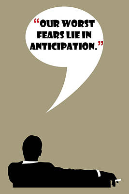 Anticipation Digital Art - Our Worst Fears - Mad Men Poster Don Draper Quote by Beautify My Walls