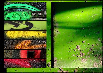 urban Abstracts Seeing Double 17 Print by Marlene Burns