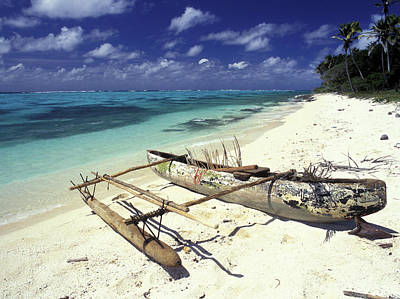 Outrigger Canoe Print by Sean Davey