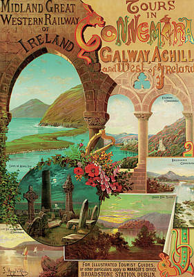 ours in Connemara, Midland Great Western Railway of Ireland Print by Hugo d'Alesi