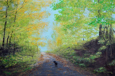 Park Painting - Out For A Walk by Ken Figurski