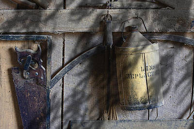 Tin Photograph - Out In The Barn by Tom Mc Nemar