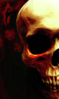Skull Digital Art - Out Of Darkness by Vic Weiford