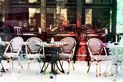 Empty Chairs Digital Art - Outdoor Dining In Minneapollis by Susan Stone