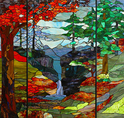 Outdoor Mixed Media - Outdoor Scene - Stained Glass by Garland Johnson
