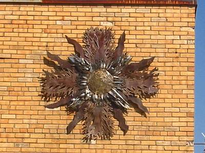 Sculpture - Outdoor Sun by Don Thibodeaux