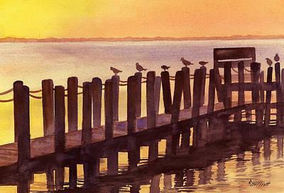 Pylon Painting - Outer Banks by Marsha Elliott