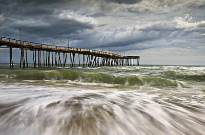 National Seashore Photograph - Outer Banks Nc Avon Pier Cape Hatteras - Fortitude by Dave Allen