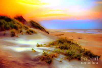 Sand Dunes Painting - Outer Banks Soft Dune Sunrise Ap by Dan Carmichael