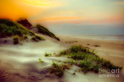 North Carolina Sunrise Digital Art - Outer Banks Soft Dune Sunrise Fx1 by Dan Carmichael