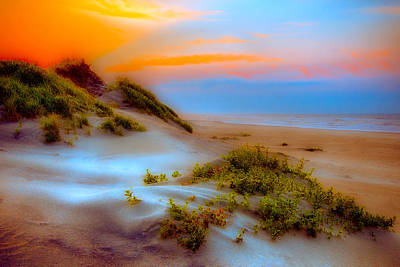 North Carolina Sunrise Digital Art - Outer Banks Soft Dune Sunrise Fx2 by Dan Carmichael