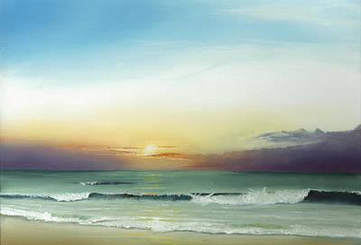 North Carolina Drawing - East Coast Sunrise by Albert Puskaric