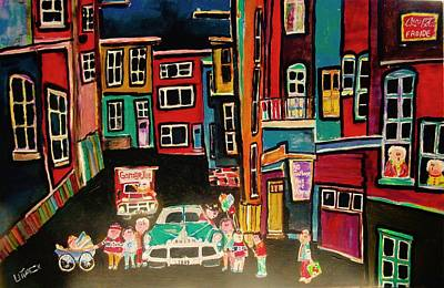 Sedan Delivery Truck Painting - Outremont Back Lane by Michael Litvack
