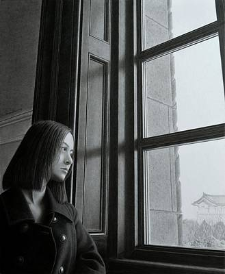 Graphite Painting - Outside Of The Window, Inside Of The Mind by Hirokazu Tomimasu