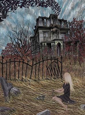 Haunted Mansion Digital Art - Outskirts Of Ipswich by Jamison Smith