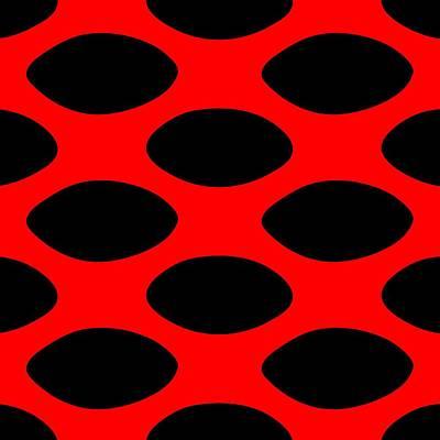 20x20 Digital Art - Oval Polka Dots In Black - Pattern 02-p0145 by Custom Home Fashions