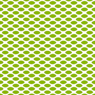 20x20 Digital Art - Oval Polka Dots - White P0145-9 Background by Custom Home Fashions