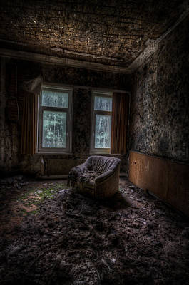 Haunted Digital Art - Over Looked Sofa by Nathan Wright