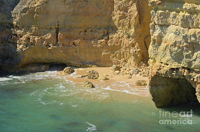 Fishing Boat Photograph - Over The Cliffs And Cave In Lagoa by Angelo DeVal