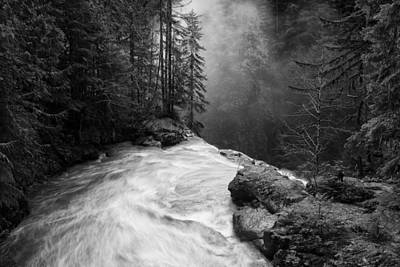 Fir Trees Photograph - Over The Falls by James K. Papp