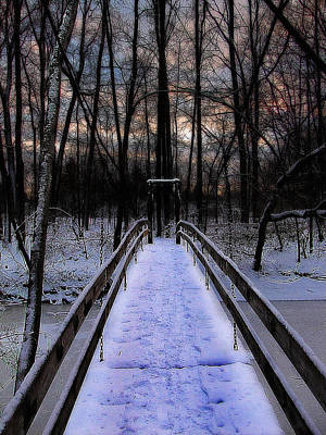 Over The Frozen River Print by Scott Hovind