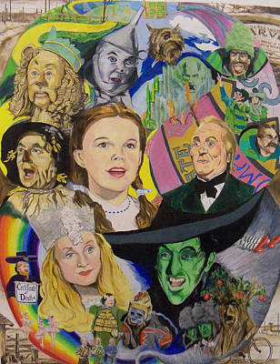 Judy Garland Painting - Over The Rainbow by Steve Teets
