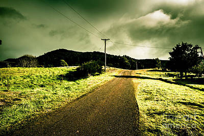 Overcast Storm Road Print by Jorgo Photography - Wall Art Gallery