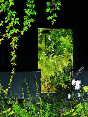 Abandoned House Digital Art - Overgrown by Rick Mosher
