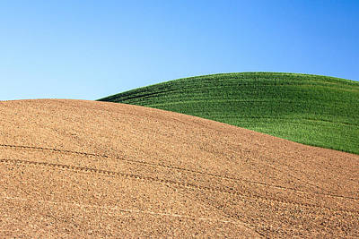 Wheat Photograph - Overlapping Hills by Todd Klassy