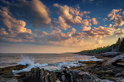 Cumulus Photograph - Overlooking Muscongus Bay by Rick Berk
