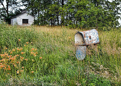 Mail Box Photograph - Overtaken By Time by Cricket Hackmann