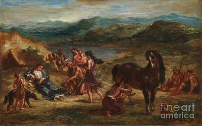 Scythian Painting - Ovid Among The Scythians by Celestial Images