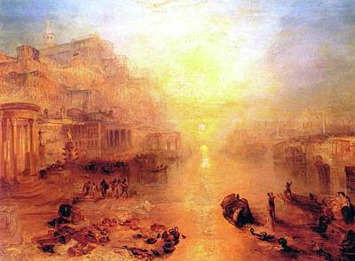 Apprehension Painting - Ovid Banished From Rome by JMW Turner