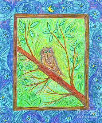 Owl At My Window By Jrr Print by First Star Art