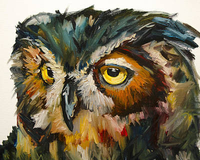 Painting - Owl Eye by Diane Whitehead