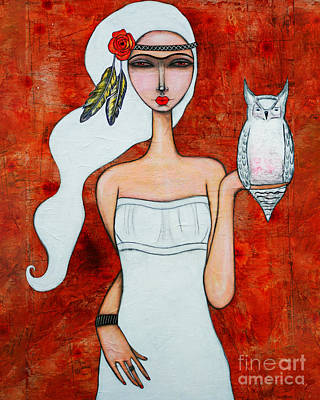 Painting - Owl Of Athena by Natalie Briney