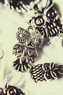 Art Pendant Jewelry Photograph - Owl Pendants. Charms Of Wisdom by Jorgo Photography - Wall Art Gallery