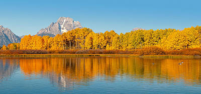 Oxbow Bend Panoramic Print by Steve Stuller