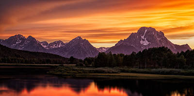 Photograph - Oxbow Sunset by Doug Oglesby
