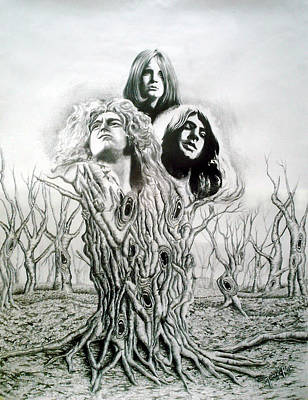 Robert Plant Drawing - Ozzy-gillan-plant by Hector Monroy