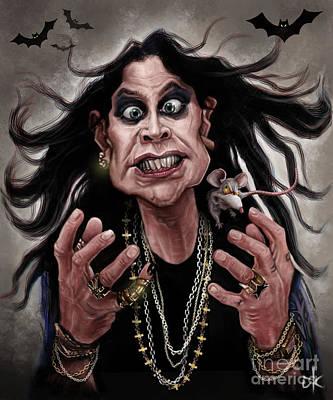 Digitalart Drawing - Ozzy Osbourne by Andre Koekemoer