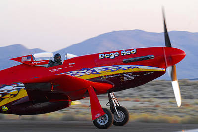Highspeed Photograph - P-51 Dago Red by Owen Ashurst
