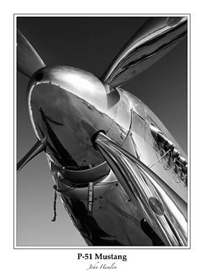 P51 Photograph - P-51 Mustang - Bordered by John Hamlon