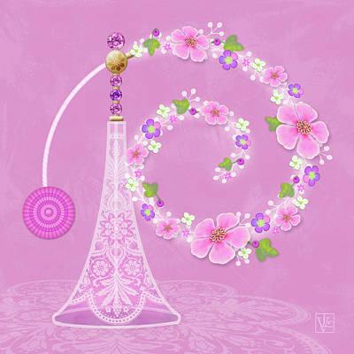 P Is For Perfume Print by Valerie Drake Lesiak