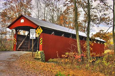 Of Augusta National Photograph - Pa Country Roads - Keefers Station Covered Bridge Over Shamokin Creek No. 1a - Northumberland County by Michael Mazaika
